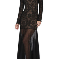 BCBG Tatiana Baroque Embroidery Gown