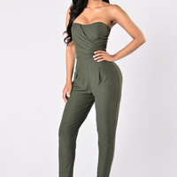 Fan Club Jumpsuit - Olive