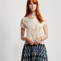 Tribal Feather Ponte Skirt