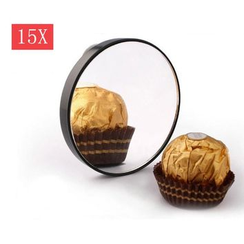 15X 10X 5X Magnifying Mirror With Two Suction Cups Makeup Tools Round Mini Mirror Makeup Shaving Cosmetic Face Care Shave P15
