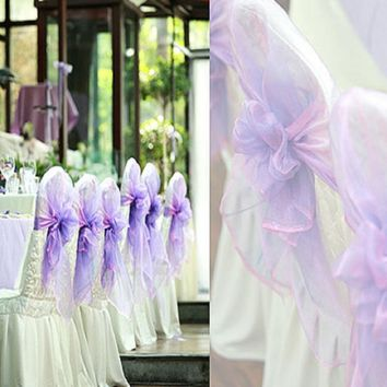 Flower Maternity Puple Green Gold Bride Chair Sash For Wedding Party Royal Decoration Ivoor Princess Mermaid Lace Band