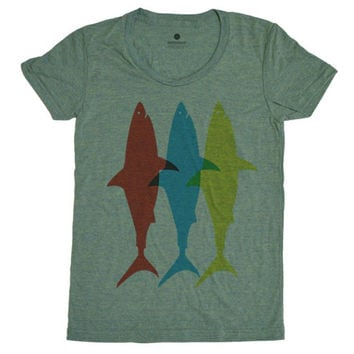 Three Sharks - Lemon Womens