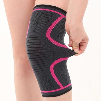DICHSKI Geometric a loaded Cycling Tight Sports Kneepads Elastic Non-Slip Warm Nylon Knit Protective Gear Outdoor Mountaineer