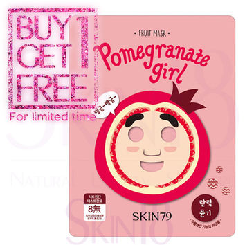 [ BUY1GET1 ] SKIN79 Fruit Character Mask - Pomegranate Girl (Moisturizing & Elastic, Wrinkle Improvement)  *exp.date 04/18*