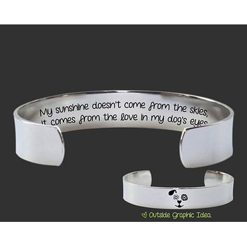 My Dog's Eyes Bracelet | Dog Lover Gift