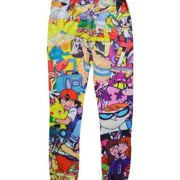Classical 90s Cartoon joggers pants 3D print sweatpants women/men harajuku trousers Cartoon pants pantalones Free shipping