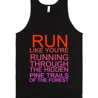 Pine Trails-Unisex Black Tank