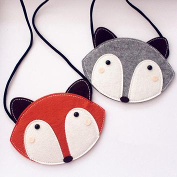 women bag Popular Mini Cute Fox women handbags of  Cotton Fabric 2 colors 45