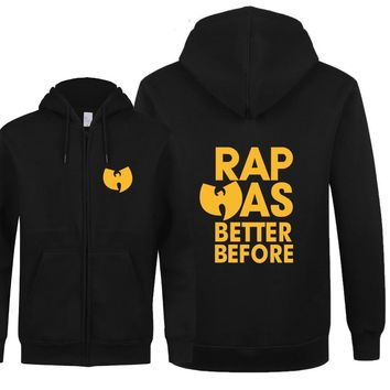 2017 New Wu Tang Clan Hoodies Men Autumn Coat Zipper Wu Tang Clan Hoodies Men Cotton Fleece Hip Hop Sweatshirt Free Shipping