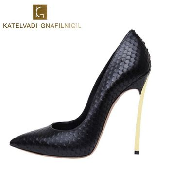 Women Shoes High Heels Women Pumps Stiletto 12CM Heels Sexy Shoes Woman High Heels Patent Leather Pointed Toe High Heels B-0029