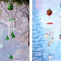 Christmas Holiday Wind Chimes Lawn Yard Porch Deck Patio Outdoor Home Decor