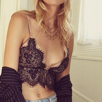 Angeline Lace Detail Bralette