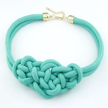 Hot Fashion Pendant Choker Necklace For multicolor Creative Women Cotton Handwoven Rope Jewelry Charm Chinese Knot Necklace