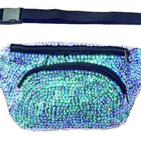 Sequin Fanny Pack Opal Purple