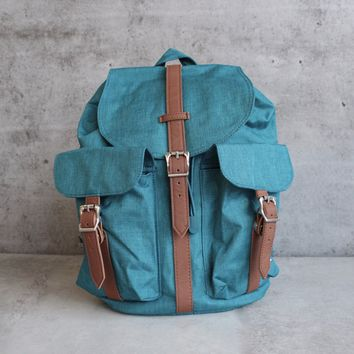 herschel supply co. - womens dawson backpack - petrol crosshatch