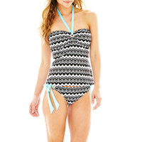 jcpenney | a.n.a® Zigzag Print Halter Bandini Swim Top or Hipster Bottoms