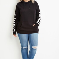 Plus Size 83 Graphic Hoodie