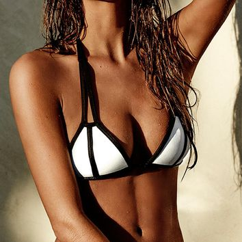 Lisa Lozano 2015 Neoprene Black and White Bikini