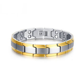 Health Bracelets - Stainless Steel with Magnetic and Germanium BR-076