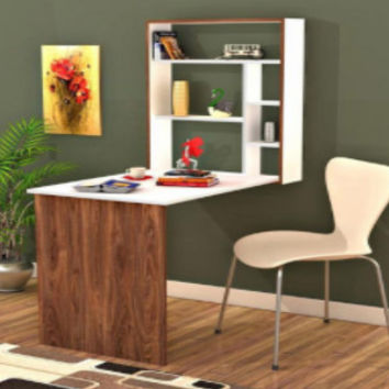 Magicbox wall mounted hideaway desk