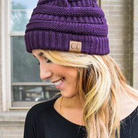 Powder Day Beanie Plum