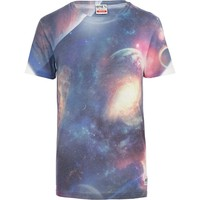 Blue Ones Supply Co. space print t-shirt