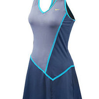 New Nike Maria Sharapova Rival Knit Dress Blue Dusk