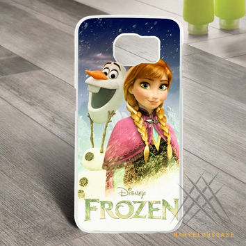 disney froozen olaf n elsa Custom case for Samsung Galaxy