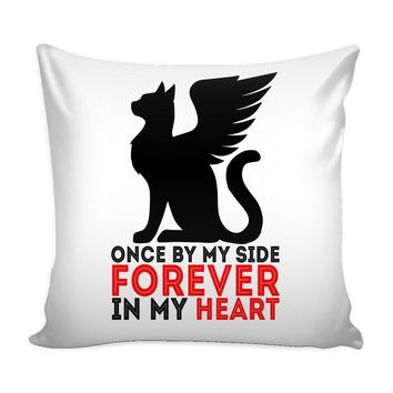 Memorial Cat Pillow Cover Once By My Side Forever In My Heart