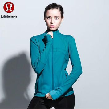 """lululemon""Women Casual Sport Running Yoga Cardigan Jacket Coat"