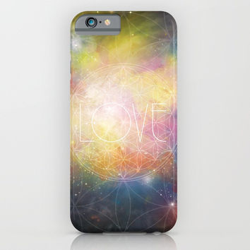 LOVE - Flower of Life iPhone & iPod Case by Andreia Treptow Illustrations