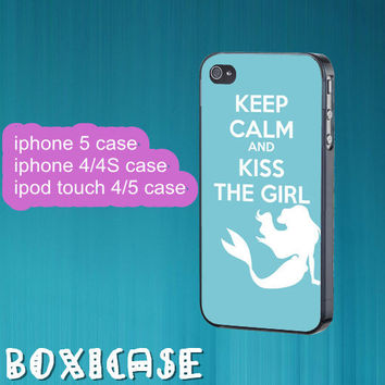 Kiss the girl---iphone 4 case,iphone 5 case,ipod touch 4 case,ipod touch 5 case,in plastic,silicone and black,white.