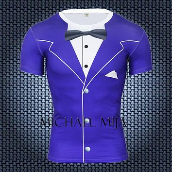 Anime T-Shirt cosplay 2018 Funny T Shirt Men Luxury Tuxedo 3D Anime Printed T Shirts Crossfit Compression Shirts Plus Size Brand Clothing Tops Tees AT_57_4