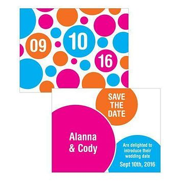 Retro Pop Save The Date Card Berry (Pack of 1)