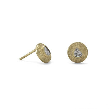 Polki Diamond Stud Earrings