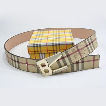 BURBERRY Men Woman Fashion Smooth Buckle Belt Leather Belt-4