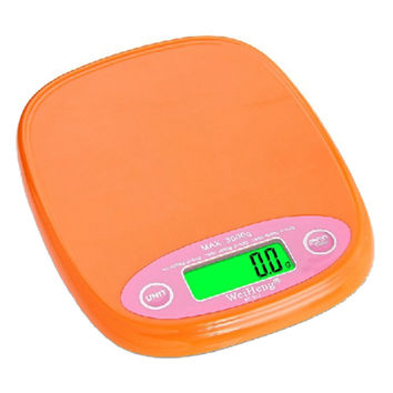 Digital Kitchen Scale 3kg 0.2g Food Diet Postal Granm Weight Balance   orange