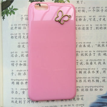butterfly protective case for iPhone 6 iPhone 6 plus iPhone5/s, summer gift hard case,best friends gift