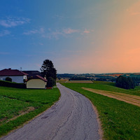 Country road on a summer afternoon II | landscape photography Art Print by Patrick Jobst