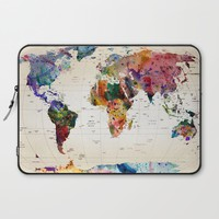 map Laptop Sleeve by Mark Ashkenazi