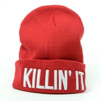 Killin It Beanie (Red) Ltd Ed. - Headwear - Women - Paper Alligator