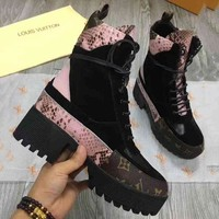 LV Louis Vuitton Fashion Trending Women High Help Heels Shoes Boots I