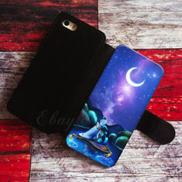 aladin and princess jasmine Wallet iPhone cases Disney Samsung Wallet Phone Case