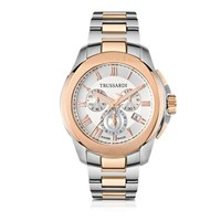 Trussardi Designer Men's Watches T01 Gent Stainless Steel and Rose Gold PVD Men's Chronograph Watch