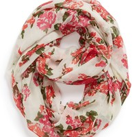 Capelli of New York 'All Over Flora' Infinity Scarf (Juniors)