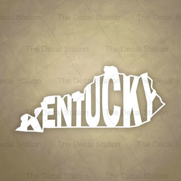 Kentucky Vinyl Decal Sticker for Car Truck Auto. Word Art . US State Pride.