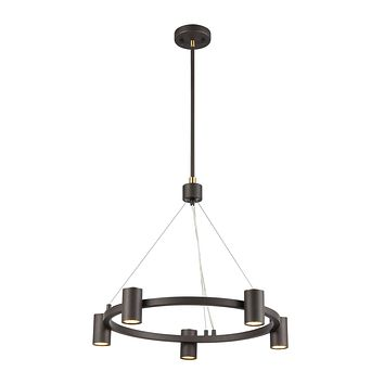 Kempton 5-Light Chandelier in Matte Black