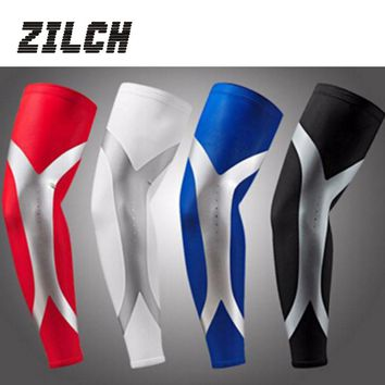 1 Pc Lycra Basketball Compression Arm Sleeves Non-slip Elastic Armband UV Protectors Sleeve Sport Safety Mangas Ciclismo