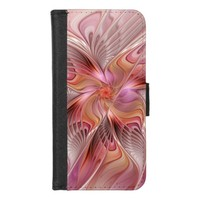 Abstract Butterfly Colorful Fantasy Fractal Art iPhone 8/7 Wallet Case