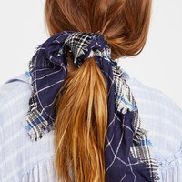 Free People Patchwork Plaid Bandana